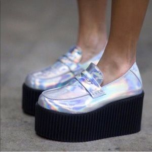 UNIF Holographic Iridescent Edge Platforms 8 GUC
